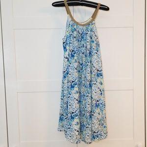 Blue Mosiac Flowy Dress